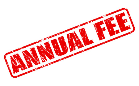honorarium: ANNUAL FEE red stamp text on white