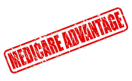 advantage: MEDICARE ADVANTAGE red stamp text on white
