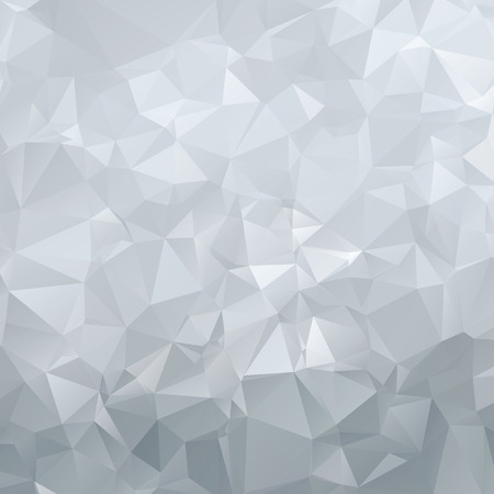 Abstract silver polygon triangles background Illustration