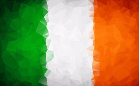 ireland flag: Flag of Ireland polygon background