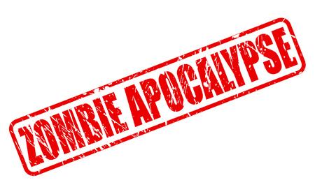 freaky: ZOMBIE APOCALYPSE stamp text on white