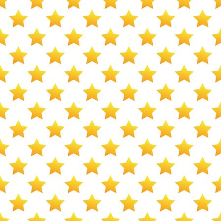 aster: Seamless yellow stars pattern on white background Illustration