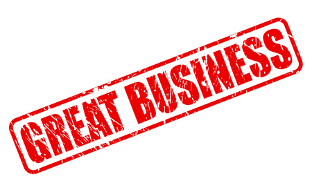 validate: GREAT BUSINESS red stamp text on white