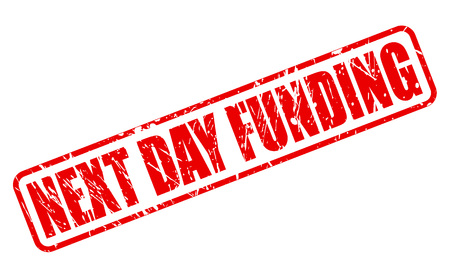 strengthen: NEXT DAY FUNDING red stamp text on white