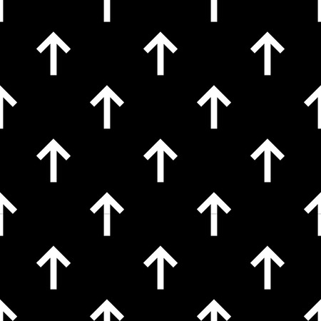Seamless forward arrow pattern on black background