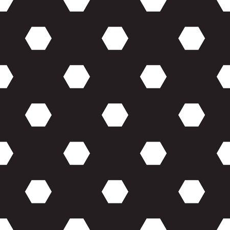 Seamless hexagon pattern on black background