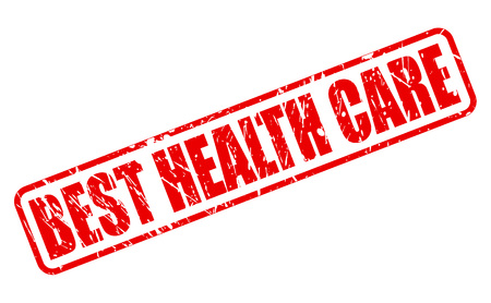 BEST HEALTH CARE red stamp text on white