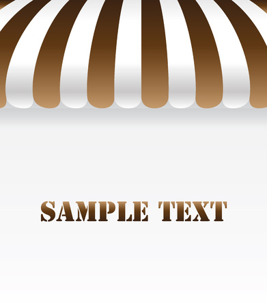 Brown and white awning background