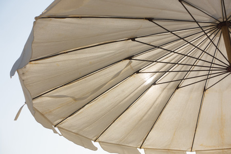 Beach umbrella on sunny day