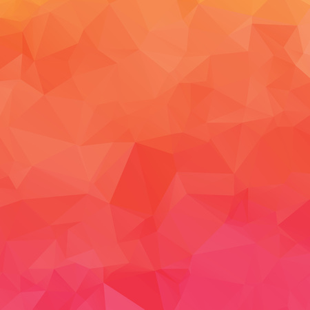 Abstract pink and orange polygon texture background