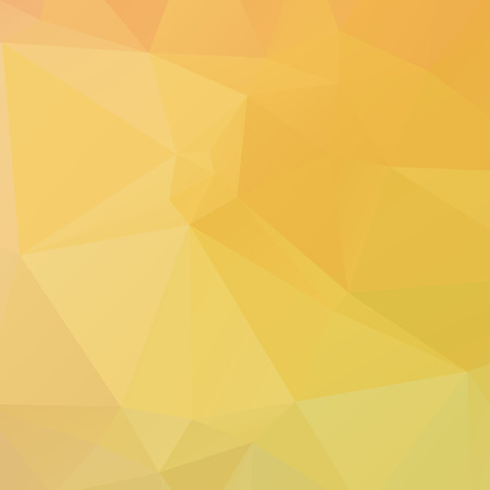 Abstract yellow polygon texture background Ilustração