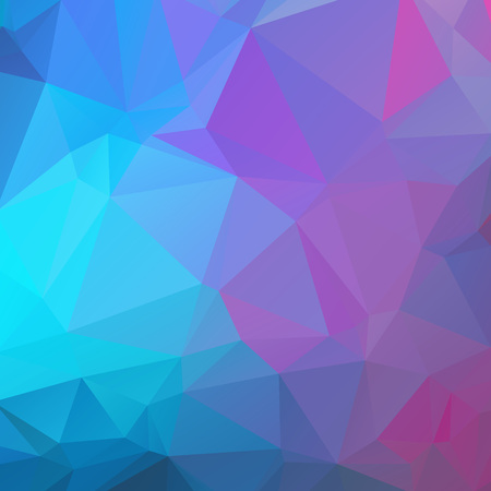 Abstract Blue and pink polygon texture background Ilustração