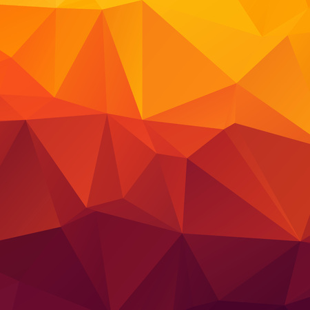 Abstract orange polygon texture backbground