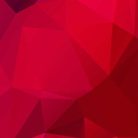 Abstract red polygont texture background