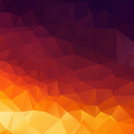 Orange and Violet polygon texture background Ilustração