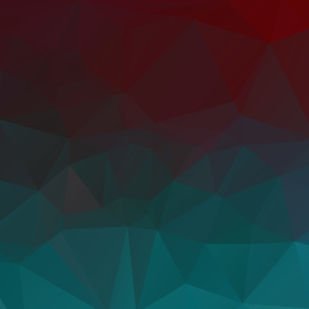 Abtract red and green polygon texture background Ilustração