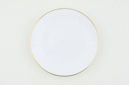 White luxury plate on white background