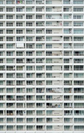 Windows of condominium building background