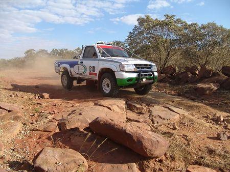 kalahari desert: 4x4 car racing in kalahari desert