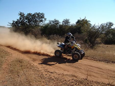 quad motorcycle racing in kalahari desert Stock Photo - 661673