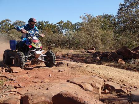 quad motorcycle racing in kalahari desert Stock Photo - 661724