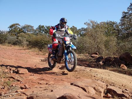 motorcycle racing in kalahari desert Stock Photo - 661720
