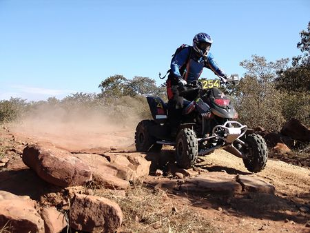 quad motorcycle racing in kalahari desert Stock Photo - 661719
