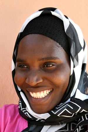 beautiful african woman from Zimbabwe Stock Photo