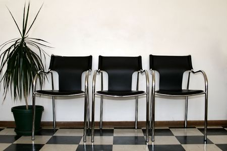 Chairs in a hospital waiting room