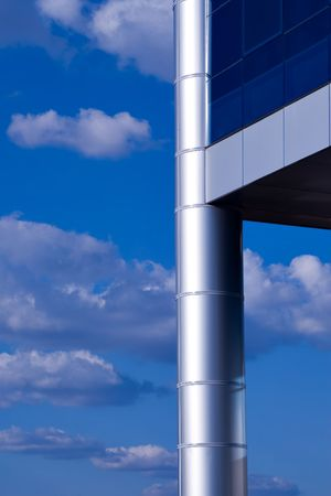 clody: corporate building against the blue sky Stock Photo