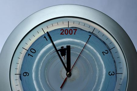 Silver clock, time, year  passing simple concept Stock Photo - 661562