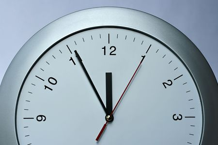 Silver clock, time, year  passing simple concept