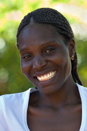 Young african woman, Zimbabwe, no makeup, smiling