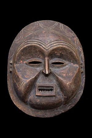 contain: Handmade antique african mask, contain clipping paths, Ndebele tribe, Bulawayo, Zimbabwe