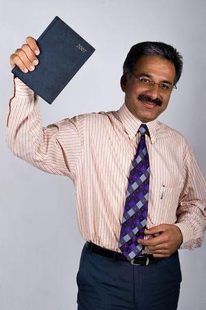 ビジネスマン中年と口ひげを生やして、イランのモデル、アラビア語のタイプ。 写真素材