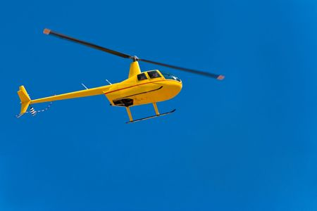 helicopter flight, rescue mission for Kalahari Desert Race, technical series photo