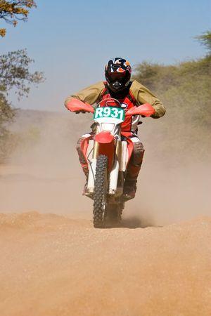 Bike riders in the Botswana Kalahari Desert Race 1000, sport series Stock Photo - 1091399