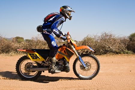Bike riders in the Botswana Kalahari Desert Race 1000, sport series Stock Photo - 1091400