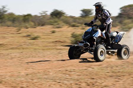 Quad bike riders in the Botswana Kalahari Desert Race 1000, sport series Stock Photo - 1091420