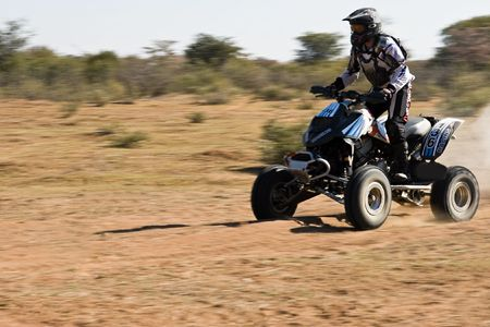 concurs: Quad bike riders in the Botswana Kalahari Desert Race 1000, sport series