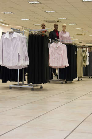 Gone shopping, generic supermarket with lots of clothes on the shelves Stock Photo - 1305559