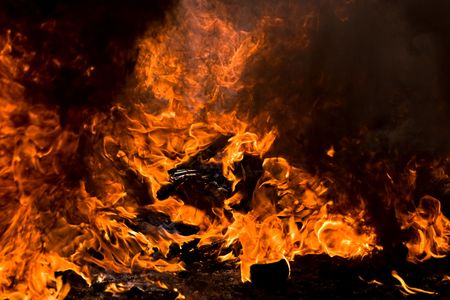 Out of control fire, texture, backgrounds, design elements series Stock Photo - 1305564