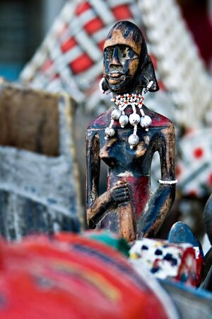 souvenirs: Vintage African art on sale in the free market, art series