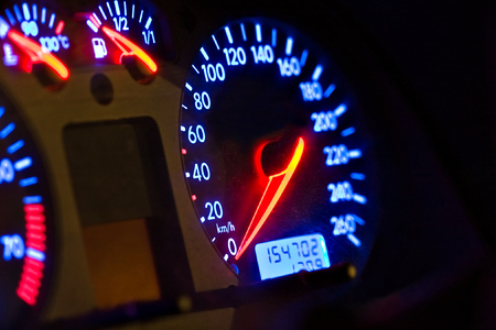 accurately: vehicle, gages, neon look blue and red, auto series