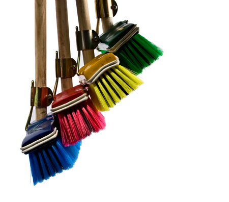 broom handle: Escoba elementos de dise�o, multicolor, serie de art�culos del hogar Foto de archivo