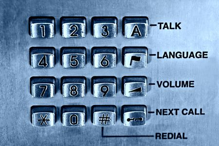 touchtone: Public phone keypad, blue tint, slight noise added for the vintage look,