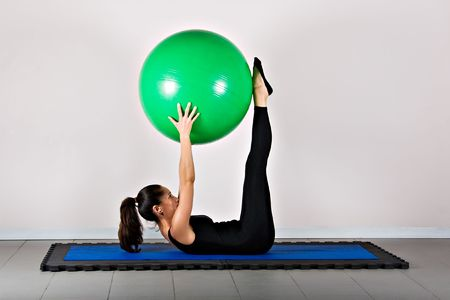 germanic: Pike with ball position. Pilates gymnastics is a Germanic evolution of yoga, used by athletes to improve flexibility and body fitness and by chiropractors for patient recovery.