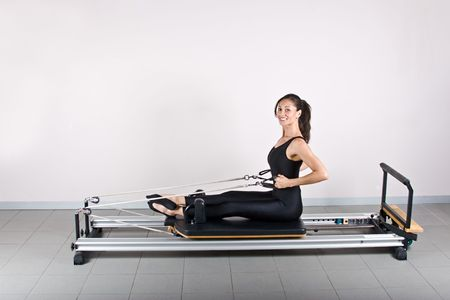 cardiovascular workout: Pilates gymnastics is a Germanic evolution of yoga, used by athletes to improve flexibility and body fitness and by chiropractors for patient recovery.