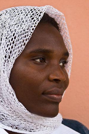 femmes muslim: Jeune femme musulmane d'Afrique, du Zimbabwe