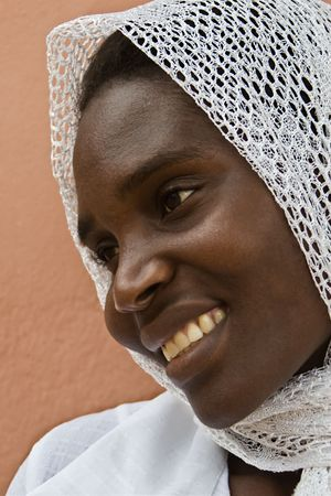 Young  African muslim woman, from Zimbabwe   photo